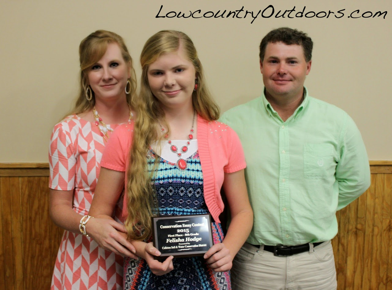 lowcountry outdoors colleton soil and water conservation felisha hodge won the 8th grade essay contest ldquo