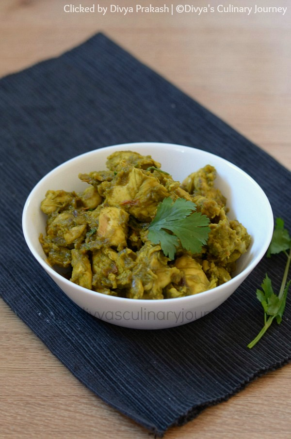 Chicken Curry with coriander leaves