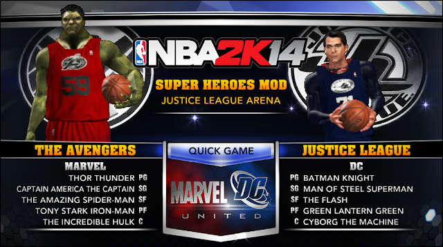 NBA 2K14 Justice League vs. The Avengers Mod