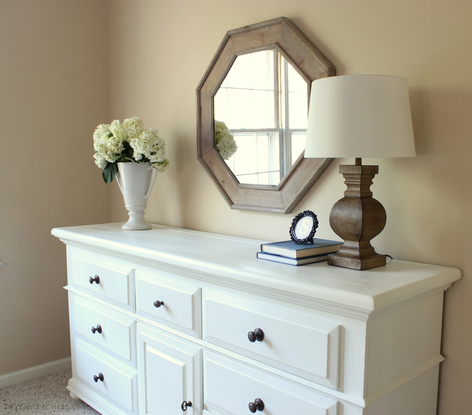 bedroom dresser makeover via