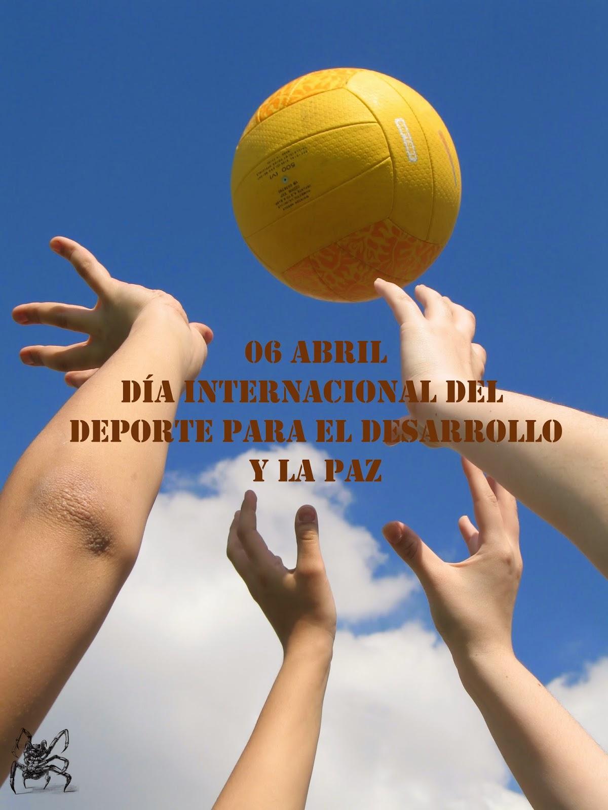 El 6 de abril es el día internacional del deporte para el desarrollo y la paz