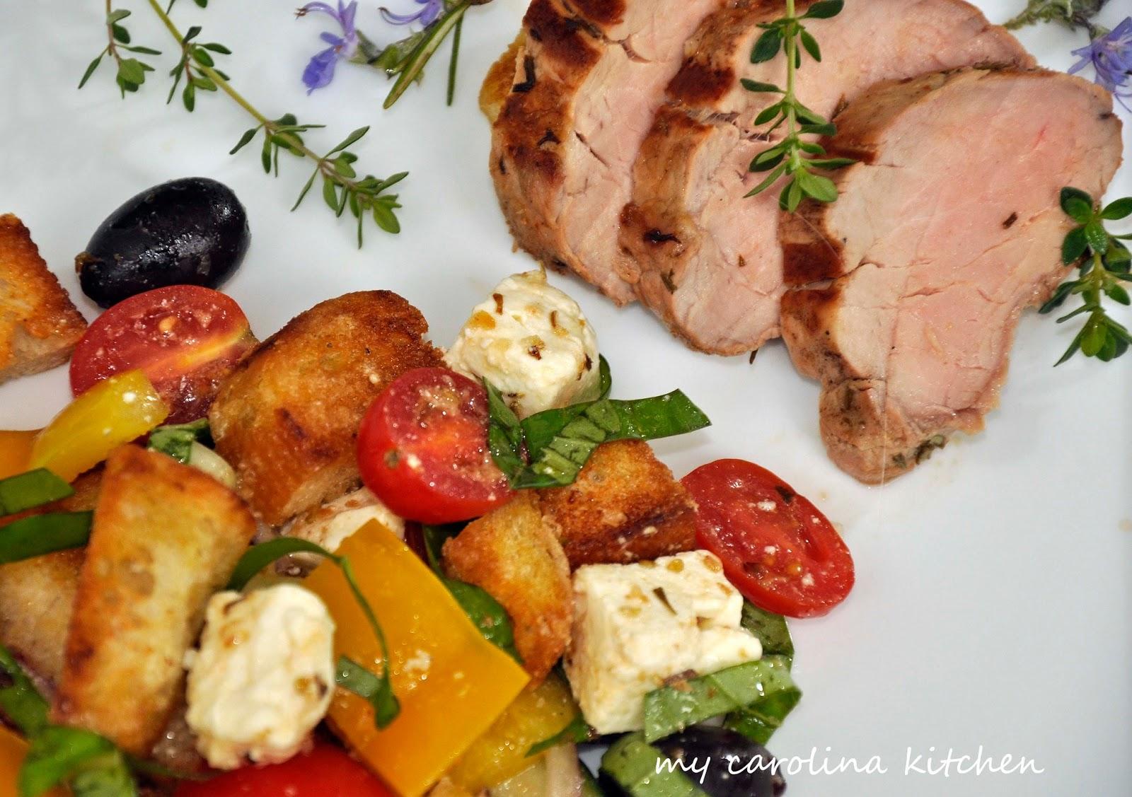 My Carolina Kitchen Herb Marinated Pork Tenderloin With A