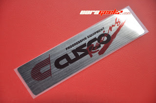 Cusco Racing Progresive Equipment Chrome  decals