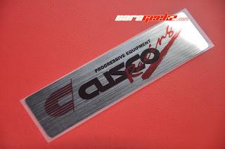 Cusco Racing Progresive Equipment Chrome  decals