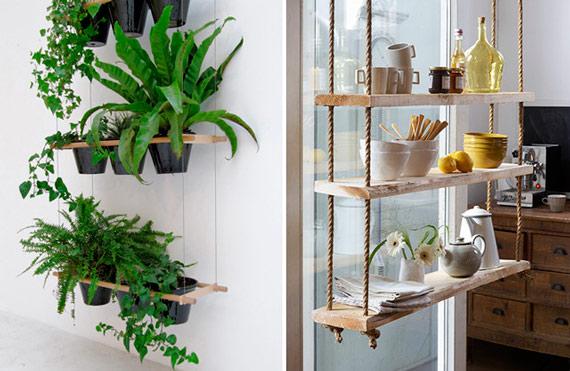 Como perdurar e pendurar plantas blog de decora o e tutorial diy - Decoratie en bois ...