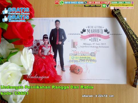 Undangan Pernikahan Rangga Dan Rabia