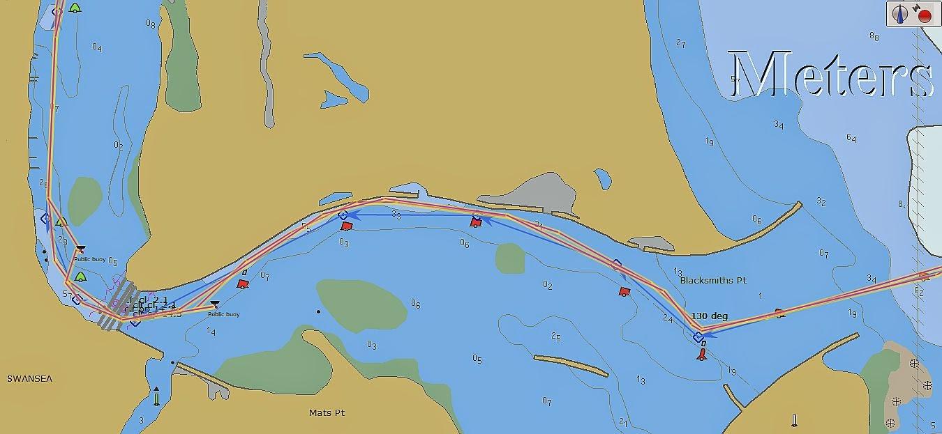 Harlequin cruising blog lake macquarie harlequin track to and from the bridge nvjuhfo Images