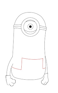 How To Draw Despicable Me Minon Step 6
