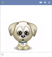 Puppy Facebook animated emoticon
