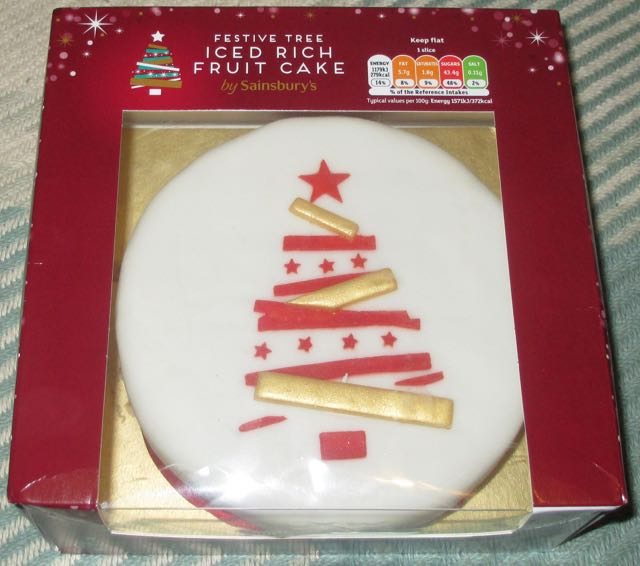 Edible Christmas Cake Decorations Sainsburys : FOODSTUFF FINDS: Iced Rich Fruit Cake - Merry Christmas ...