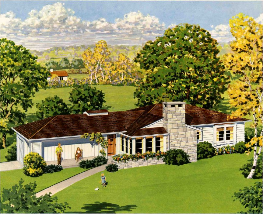 Ambitions of a trophy wife day 16 dream house for Ranch style dream homes