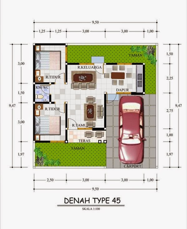 model rumah minimalis Type 45 9