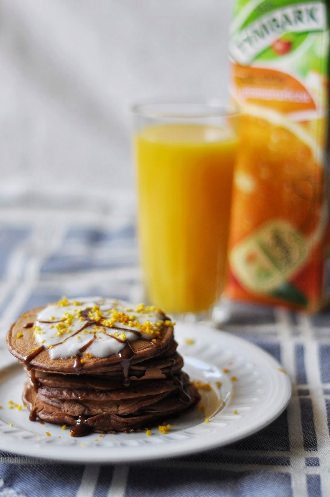 Pomarańczowo-czekoladowe pancakes