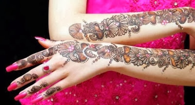 Mehndi Bridal Design Latest : Latest design of bridal mehndi amazing with
