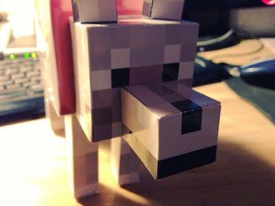 Papercraft dog Minecraft tamed free wolf template