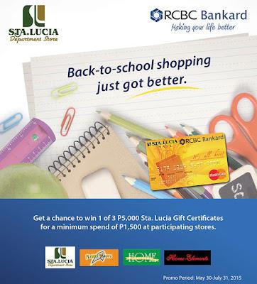 RCBC Bankard: Sta. Lucia Mall-RCBC Bankard's Back-to-School Raffle