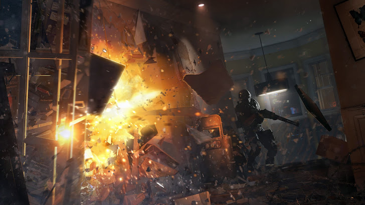 Rainbow Six Siege Explosion