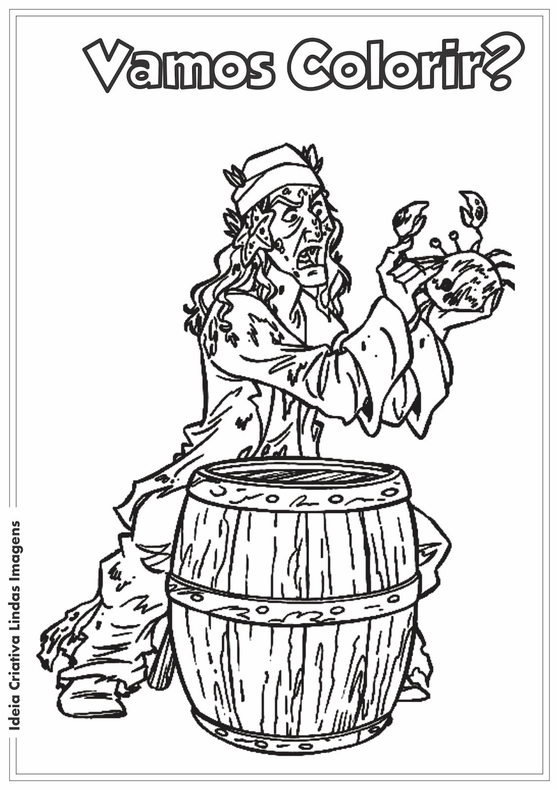 Desenho para colorir - Piratas do Caribe