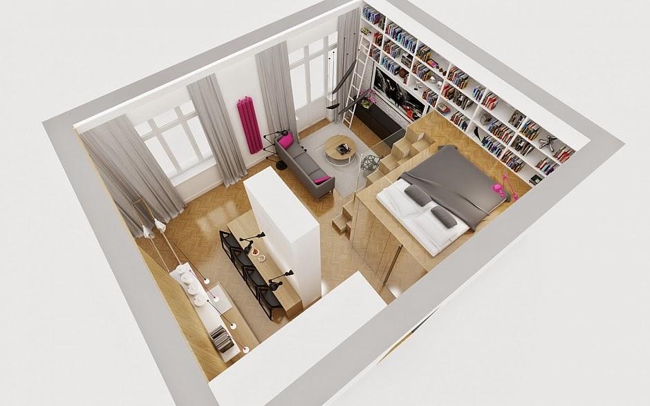 Mini departamentos de lujo mini espacios dise o for Mini departamentos decoracion