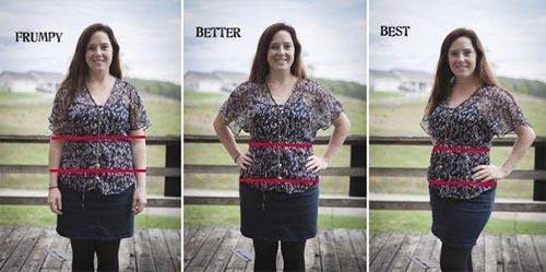 Look thinner in photos frontal pose