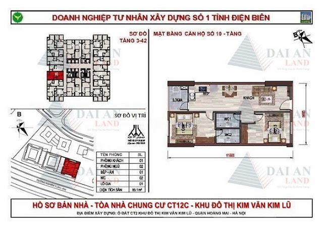 Căn 10 - Chung Cư Kim Văn Kim Lũ CT12C