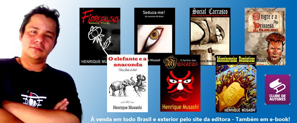 OBRAS LITERRIAS DE HENRIQUE MUSASHI