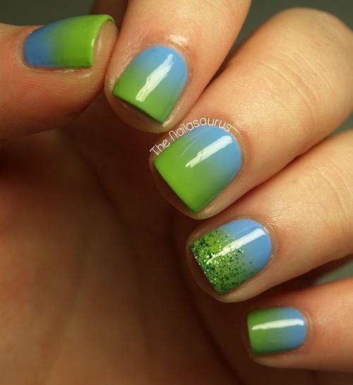 Gradient Nail Art: Summer Gradient - The Nailasaurus