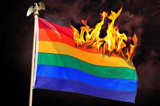 burning the rainbow flag