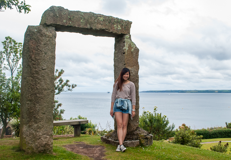 OOTD and stonehenge structure Falmouth, conrwall, England