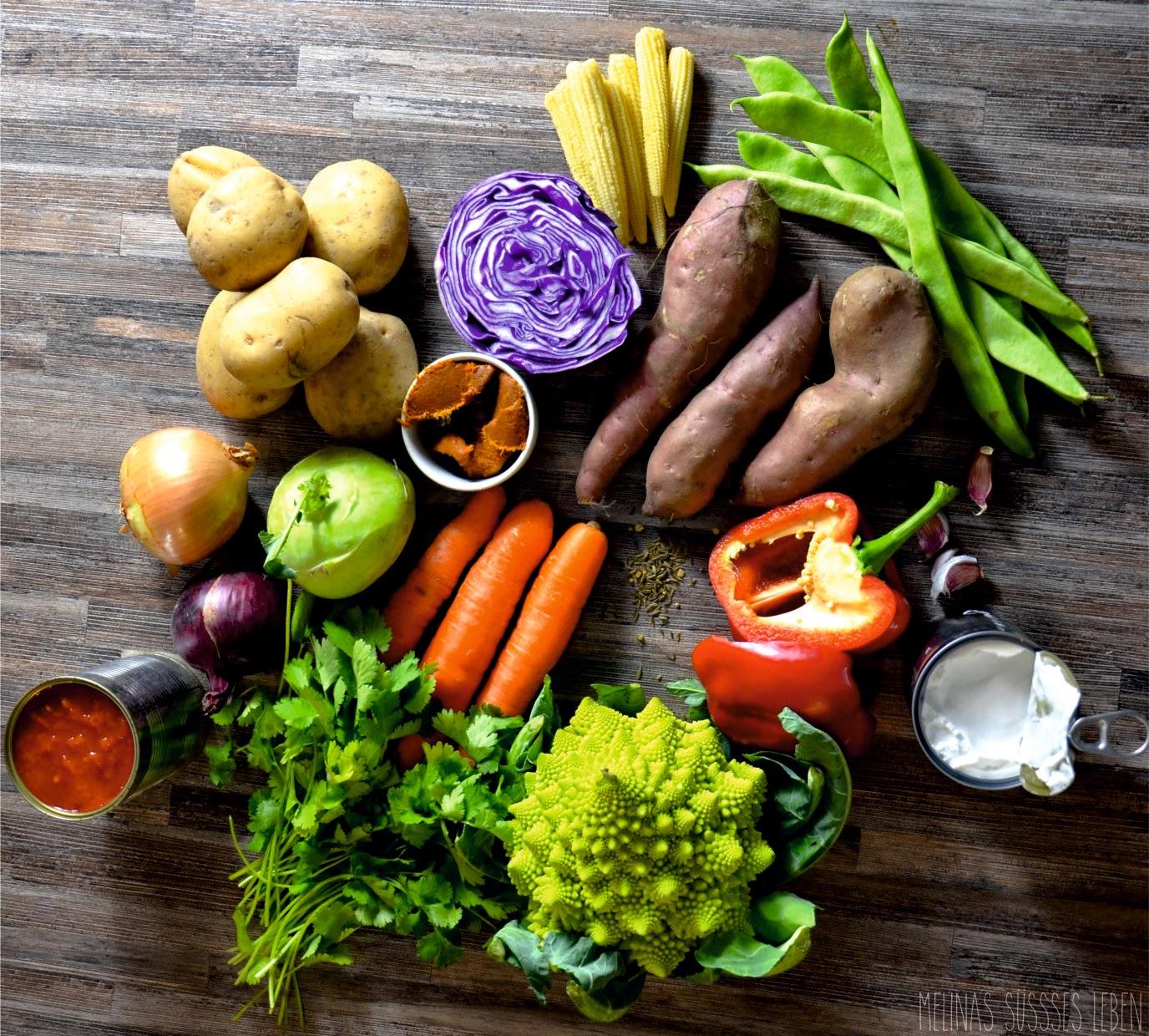 melina's süßes leben: buntes kartoffel-curry (vegan)