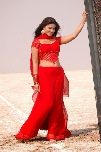 Actress Sneha's Hot Photo In Red Dress