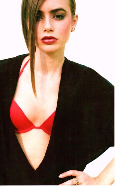 lily collins bikini