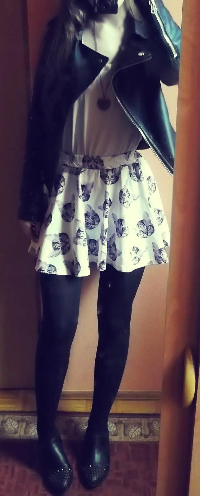 OOTD: spódnica w kotki + zakupy ciuchowo-biżuteryjne :)