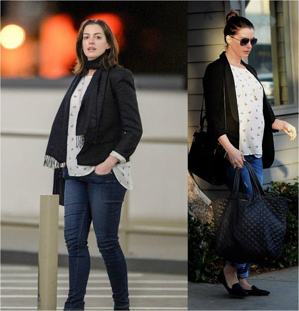 Anne Hathaway Wearing Daniel Rainn