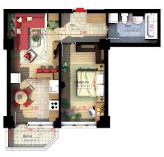 Royal Town Copou Iasi - Apartament 2 camere - decomandat -  47,20 mp