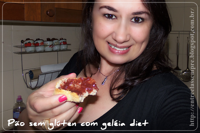 Pão com geleia diet de morango