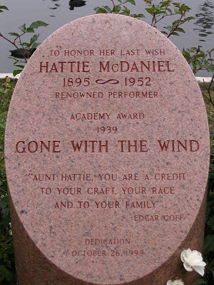 Cenotaph at Hollywood Forever Cemetery for Hattie McDaniel
