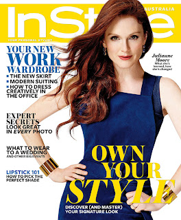 Magazine cover : Julianne Moore Magazine Photoshoot Pics on InStyle Magazine Australia February 2014 Issue