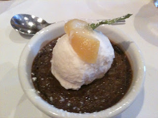 Todd Jurich's Bistro dish: Dark Chocolate Pot de Creme