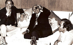 Arnon Milchan, Moshe Dayan and Leon Uris