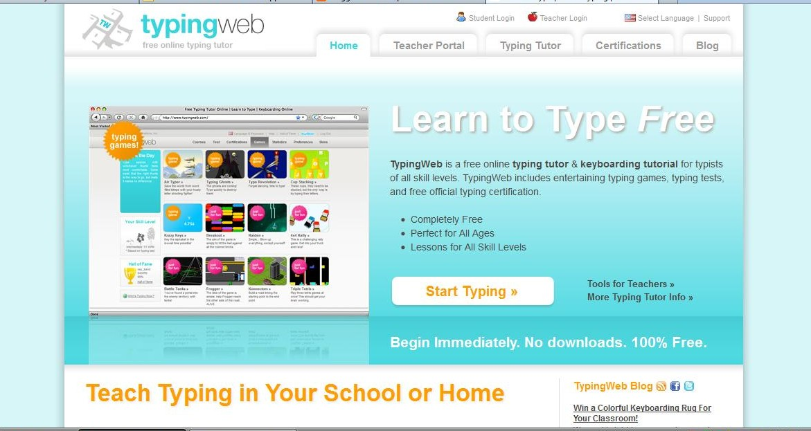online typing class