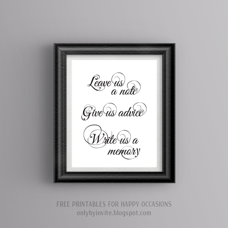 photograph regarding Free Printable Wedding Signs known as Absolutely free printables for satisfied cases : No cost wedding day printable