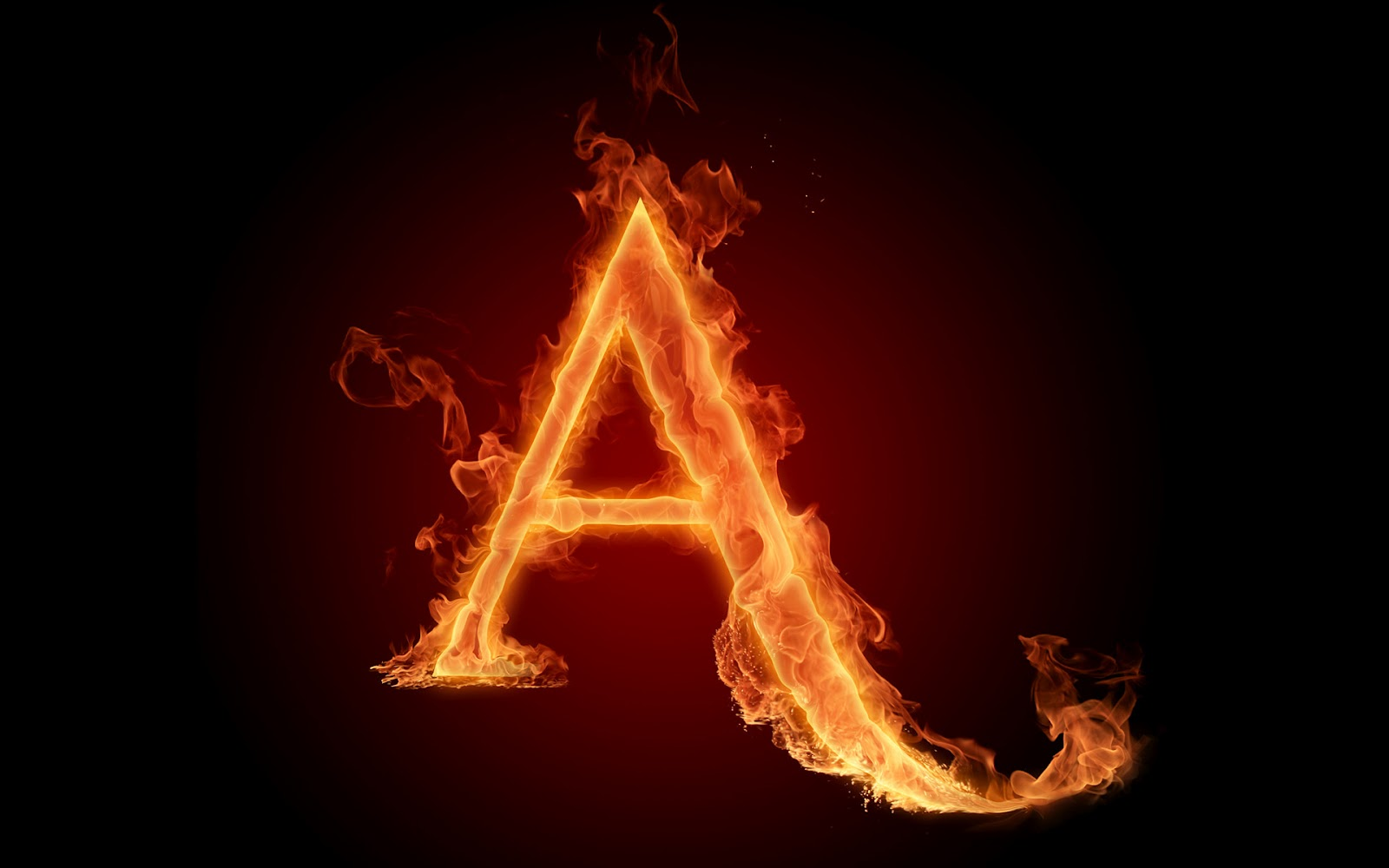 daily mobile 4 u  a-f  fiery V Alphabet Mobile Wallpaper