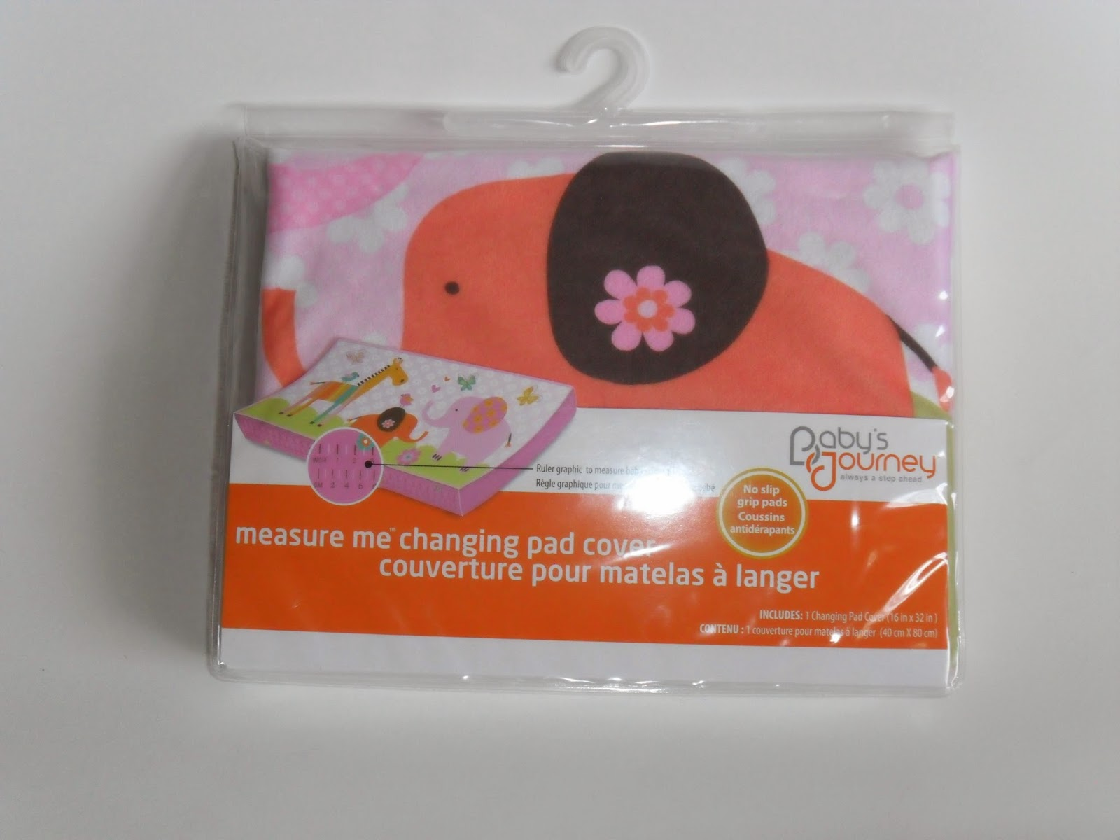 Baby' Journey Measure me changing pad cover. Review (Blu me away or Pink of me Event)