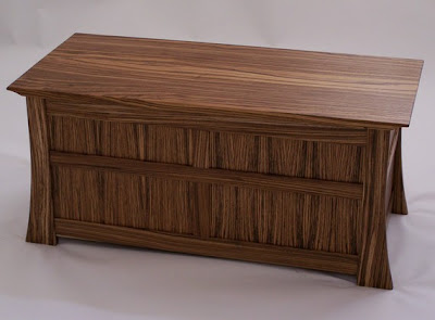 Zebrawood blanket chest