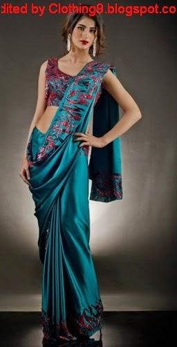 Pakistani Saree Designs 2015