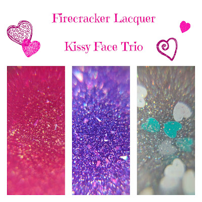 Firecracker Lacquer Kissy Face Trio