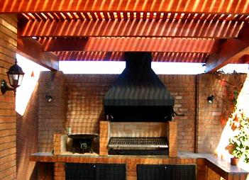 quincho mescla perfectsa de ladrillo y madera un lugar agradable para