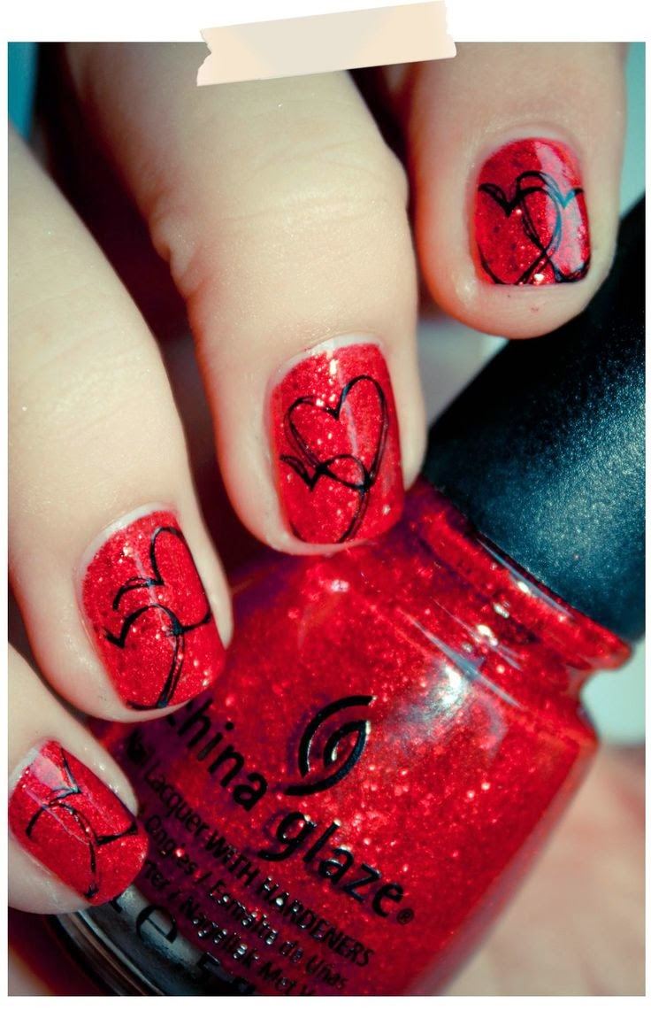 Valentine S Day Nail Art Ideas Designs For Girls 2017 Nsa Blog