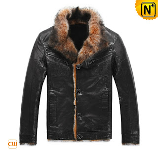 Mens Black Fur Jacket